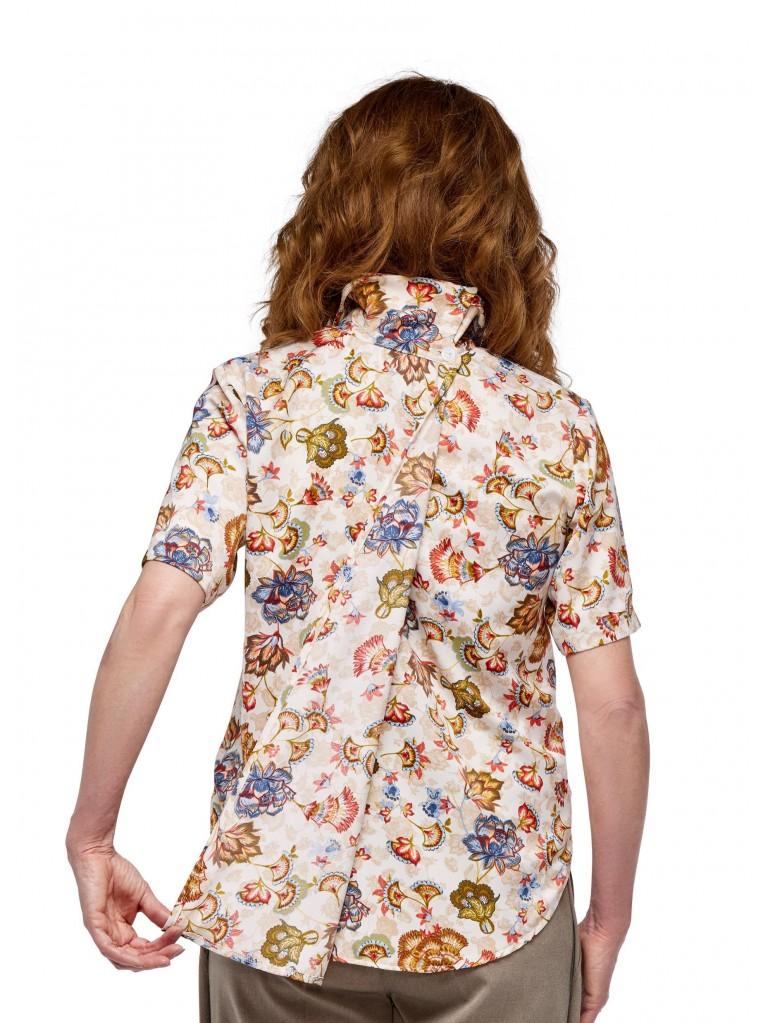 7249 Dames blouse korte mouwen