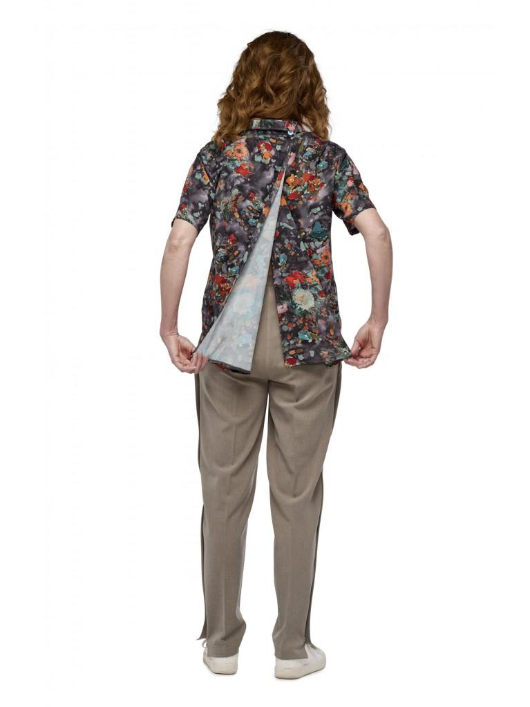 7251 Dames blouse korte mouwen
