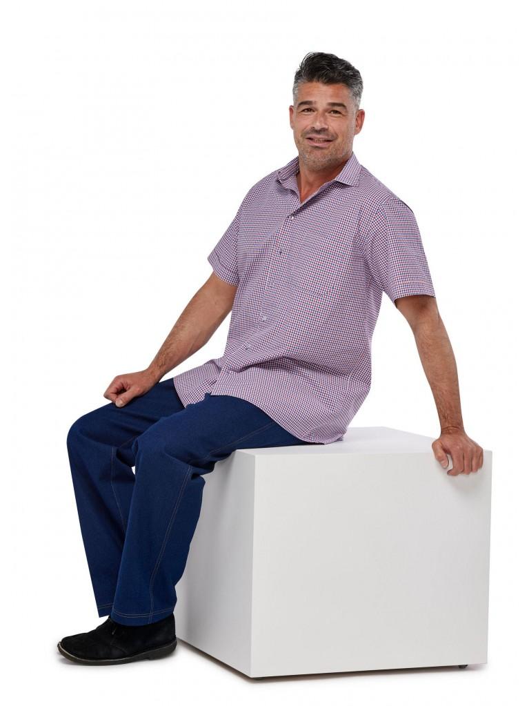 7256 Herren-Hemd mit kurzem Arm