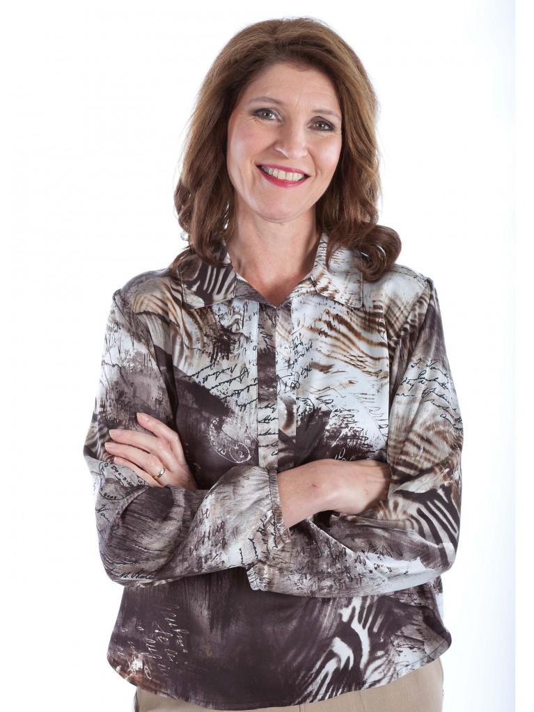 7263 Damen Bluse mit langem Arm