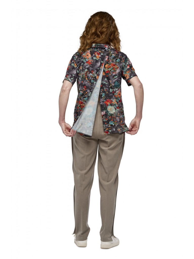 7251 Damen Bluse mit geknöpftem Kragen