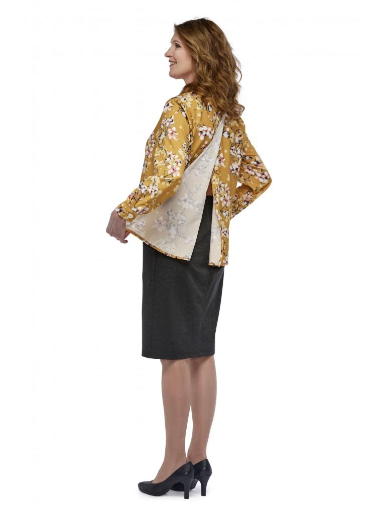 7250 Damen Bluse mit geknöpftem Kragen