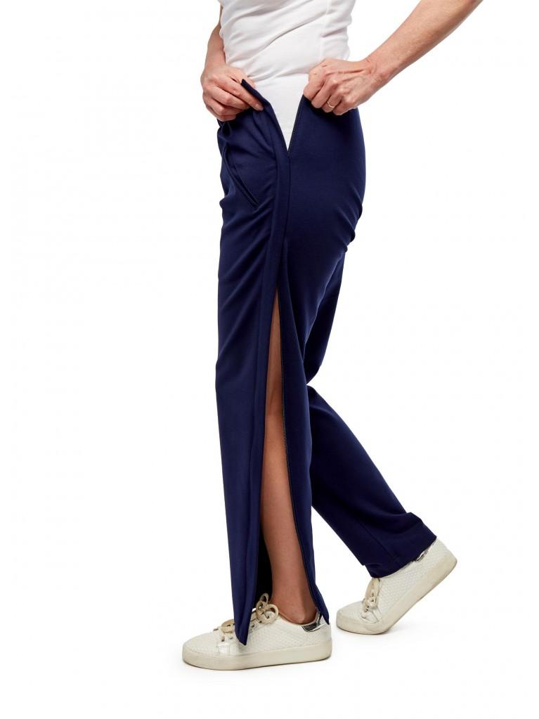 7187 Stretch pants double zipper