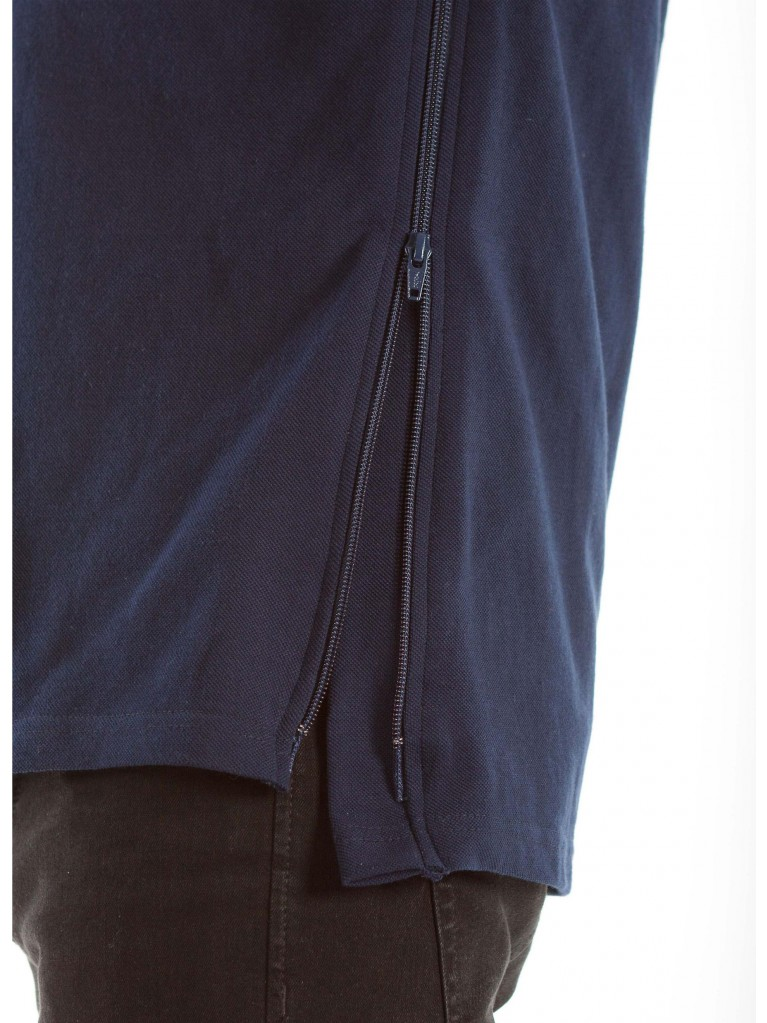 7259 Polo full side zip closure