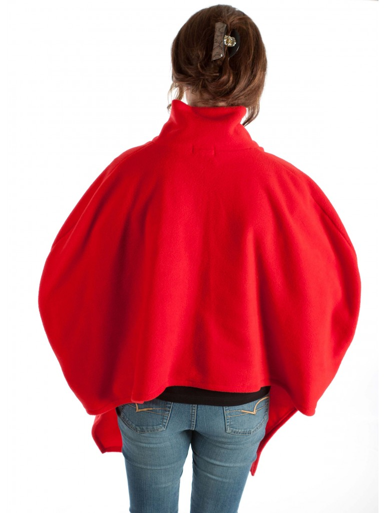 7387 Cape fleece with no sleeves