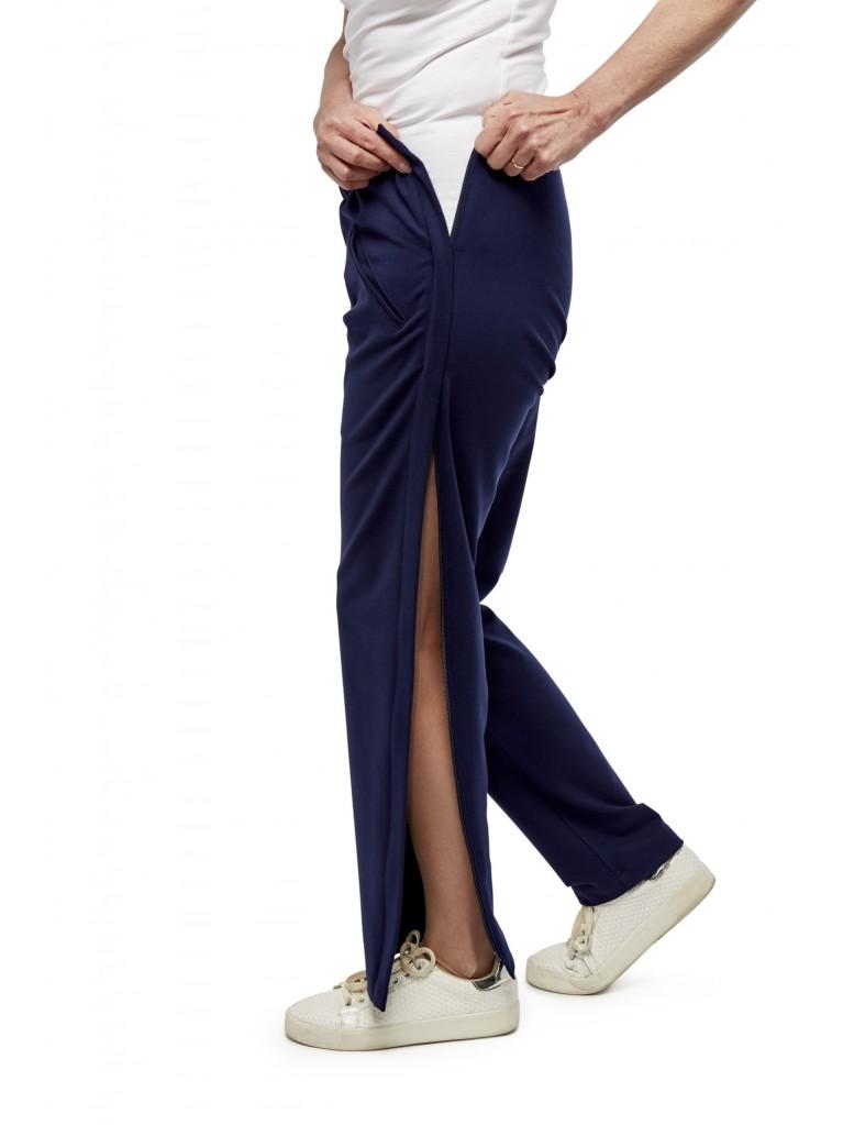7184 Ladies trousers side zippers